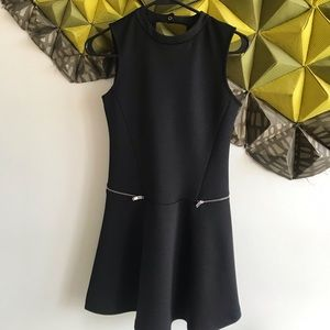 Open back short black Zara dress